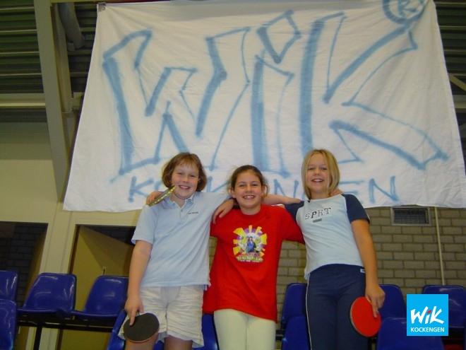 V.l.n.r. Esther, Iris en Dorine de 3 beste van de clubkampioenschappen voor meisjes.