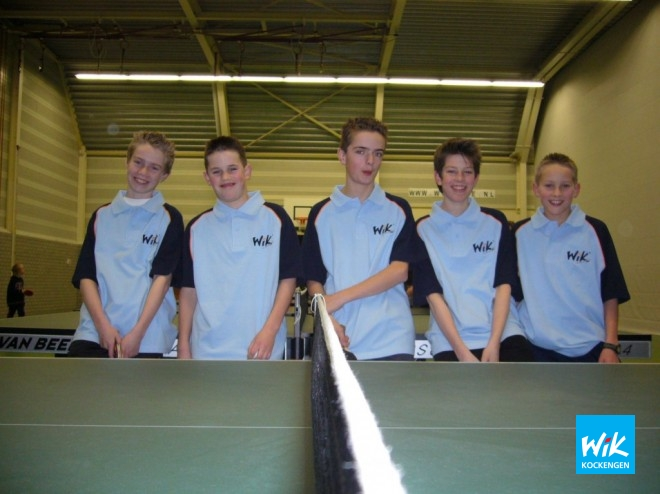 De talenten van het jeugdteam WIK 1 v.l.n.r. Marcel Hoogendoorn, Rick Romijn, Mark Boele, Matthijs Fokker en Rolf Janzen.
