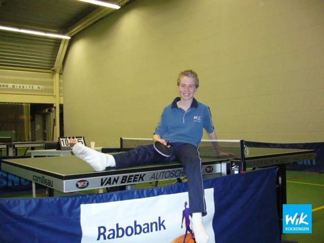 De man van de wedstrijd, Marcel Hoogendoorn, debuteerde vorige week met drie overwinningen en was ook deze week niet te kloppen in het enkelspel.