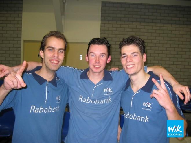 WIK 1 met v.l.n.r. Alex de Hoop, Frank Struijk en Martin van Steijn