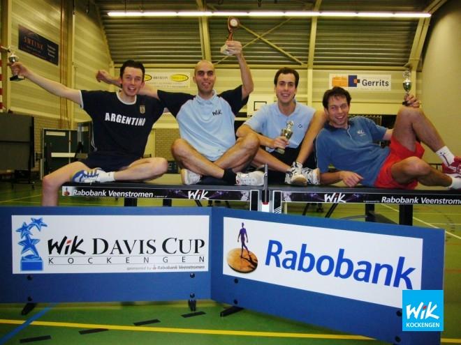 Op foto v.l.n.r.: Prijswinnaars Frank Struijk, Alex de Hoop, Sjoerd Vendrik en Ronald Verleun.