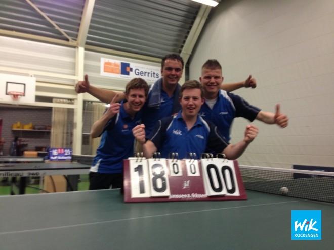 WIK 2 v.l.n.r. Dennis Goedegebuure, Mark Boele, Johannes Fitzer en captain Juran Hilhorst.