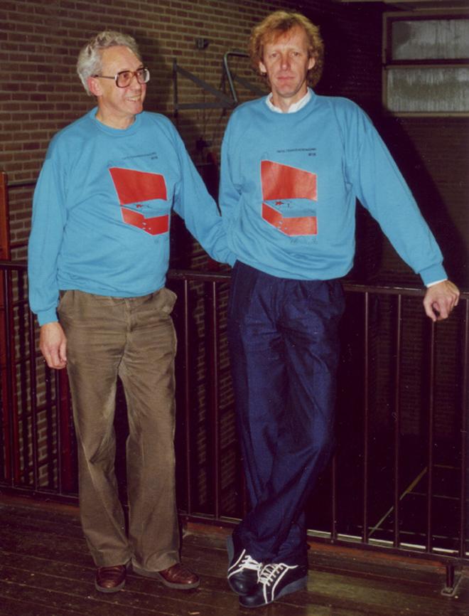 De enige twee ereleden van WIK, link Hans Groenendal tevens oprichter en rechts Hans de Rijk