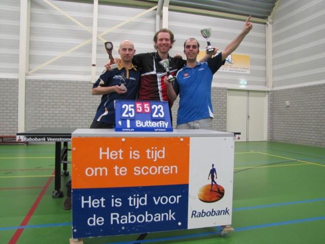 De prijswinnaars tijdens de CK van WIK. V.l.n.r. Bas Nieuwendijk, Mark Makkink en Alex de Hoop.