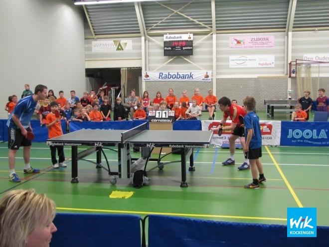 Boris de Vries en Xander den Hertog versus Martijn de Vries en Thijme Scherpenzeel verzorgen dubbelspektakel.
