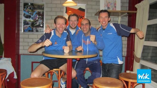 Het sterkste duocompetitieteam van Midden Nederland, v.l.n.r. Mark Makkink, Johannes Fitzer, Alex de Hoop en Frank Struijk.