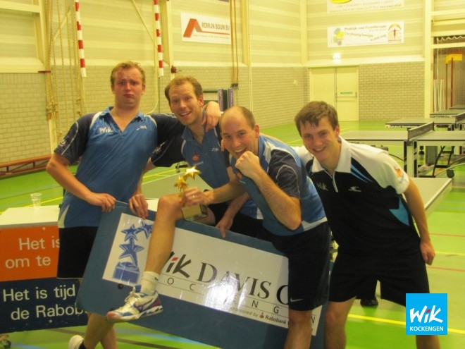 Opnieuw een grote prijs voor Mark Makkink en Justus Romijn. Gerben Bouthoorn en Joost Zagt waren gevaarlijke outsiders, die zelfs 1 championshippoint gehad heeft.