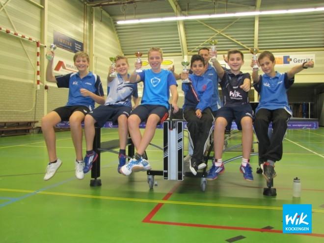 Op foto: V.l.n.r. Wilger Versteegh, Ivo de Hoop, Chiel de Hoop, David Sahakian, Nick van Dijk en Teun van Asselt.