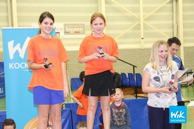 Meisjes middenbouw: Fleur Hoogendoorn(1e), Merel van Eck(2e), Lindsay Kroon(3e).