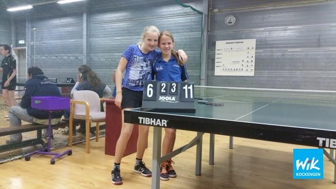 Eline Gentenaar en Fleur Hoogendoorn behalen derde overwinning op rij.