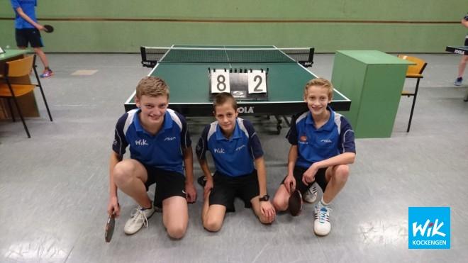 Op foto het eerste jeugdteam van WIK. V.l.n.r. Wilger Versteegh, Teun van Asselt en Xavier Chaigneau.