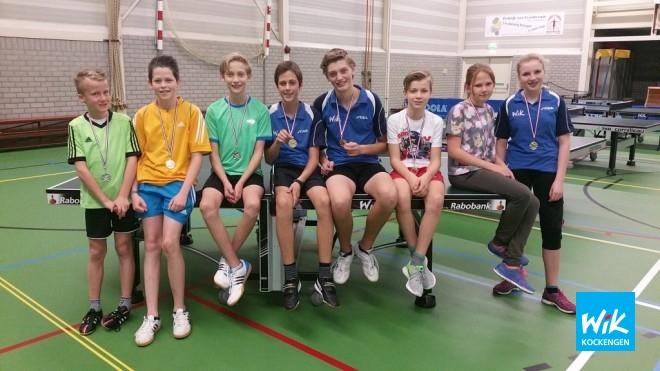 Sander, Xavier, Teun, Wilger, Bastiaan, Fleur en Eline in de prijzen.