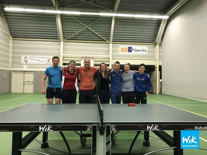 Op foto: Johannes, Amber, Justus, Sascha, Dennis, Irene en Nick. Niet op foto: Kelly.