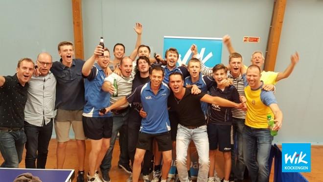 Op foto: Spelers en supporters van WIK vieren winst in bloedstollende halve finale.