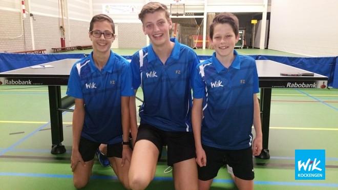 Teun, Wilger, Sander spelen in nieuw shirt en verslaan kampioen.